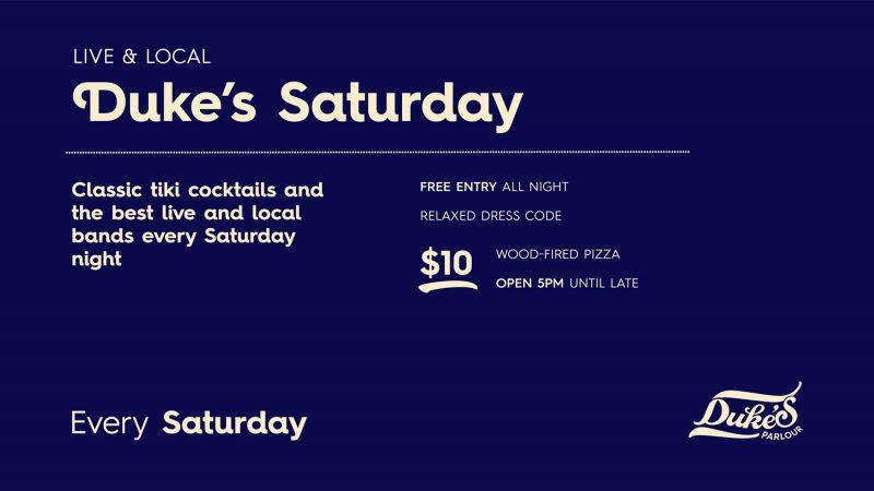 Duke's Parlour Live Bands Saturday