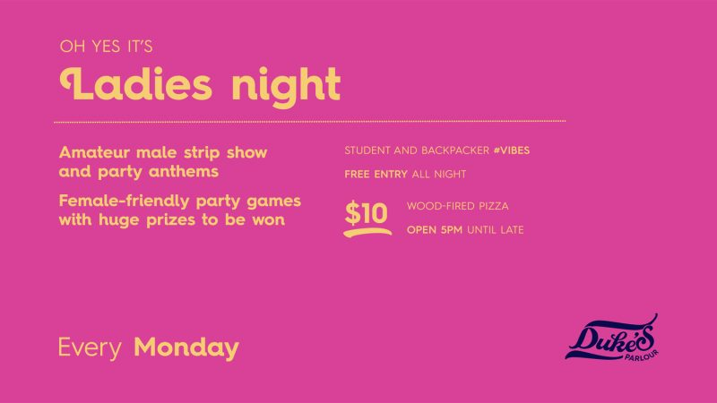 Monday Ladies Night at Duke's Parlour
